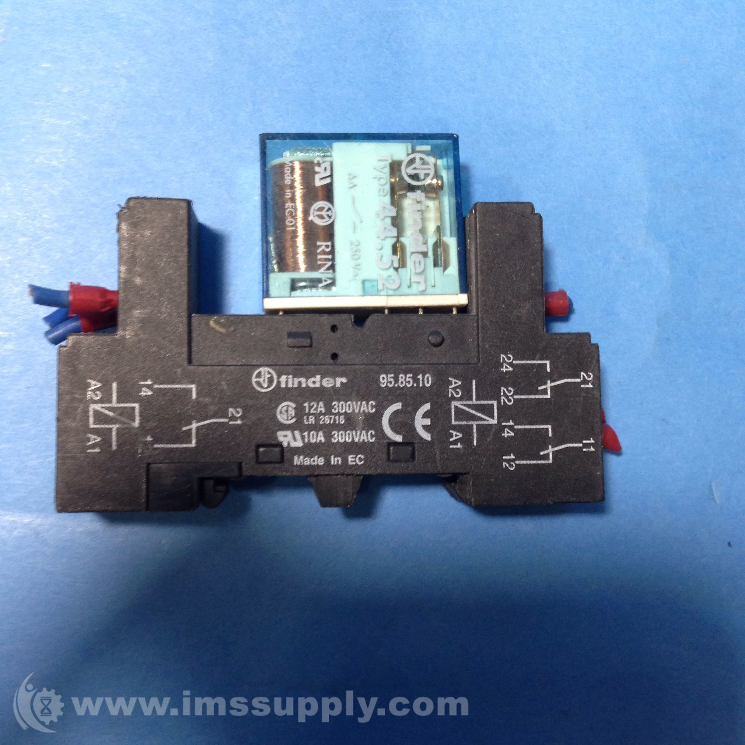 Finder 958510 Relay Socket Din Rail 40 41 44 10amp Ims Supply Solid State More Views