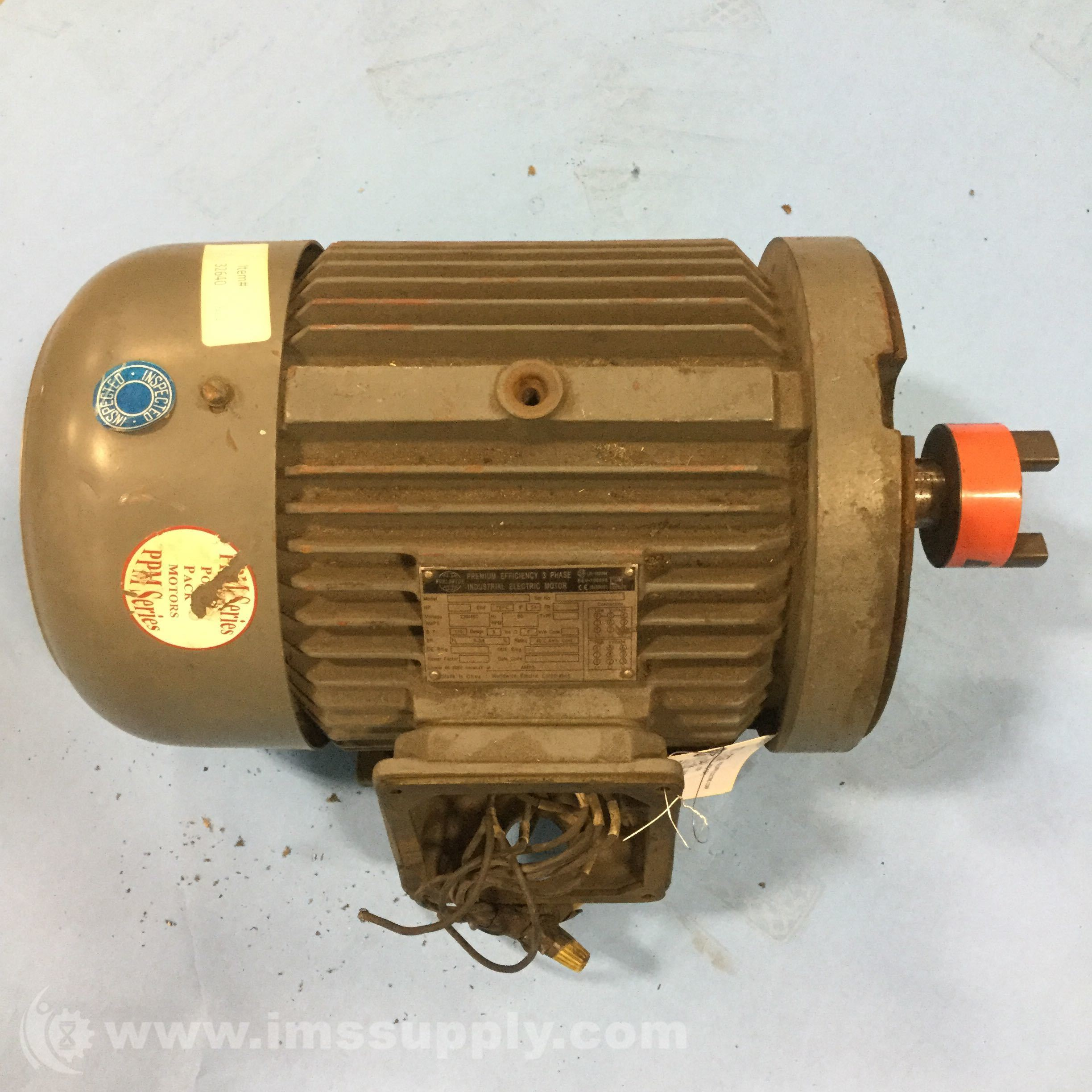 Worldwide Electric Corp WW5 184TC T Frame Motor IMS Supply