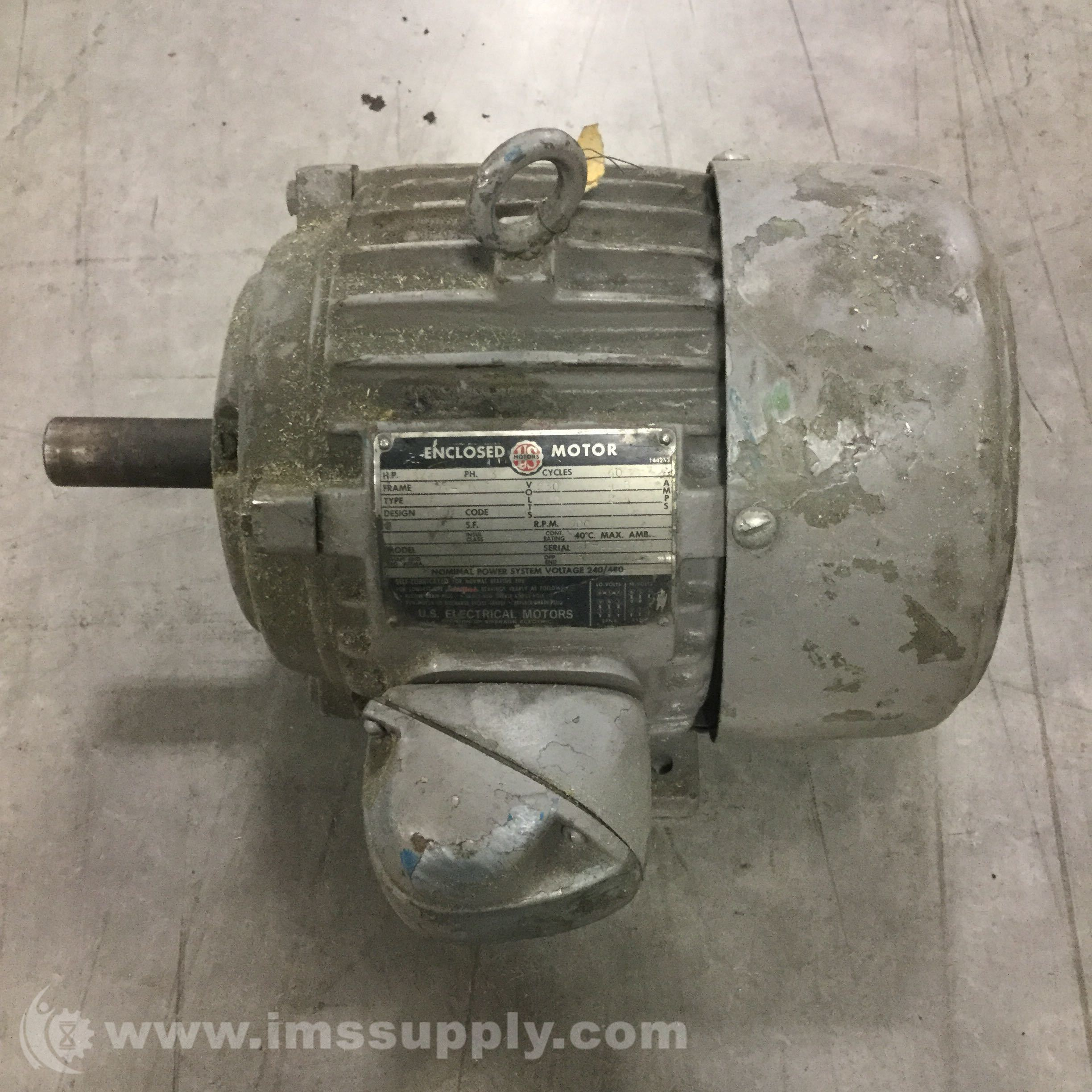 Us Electric 182t 21 Motor Slow Speed 3 4hp 900rpm 182t 21