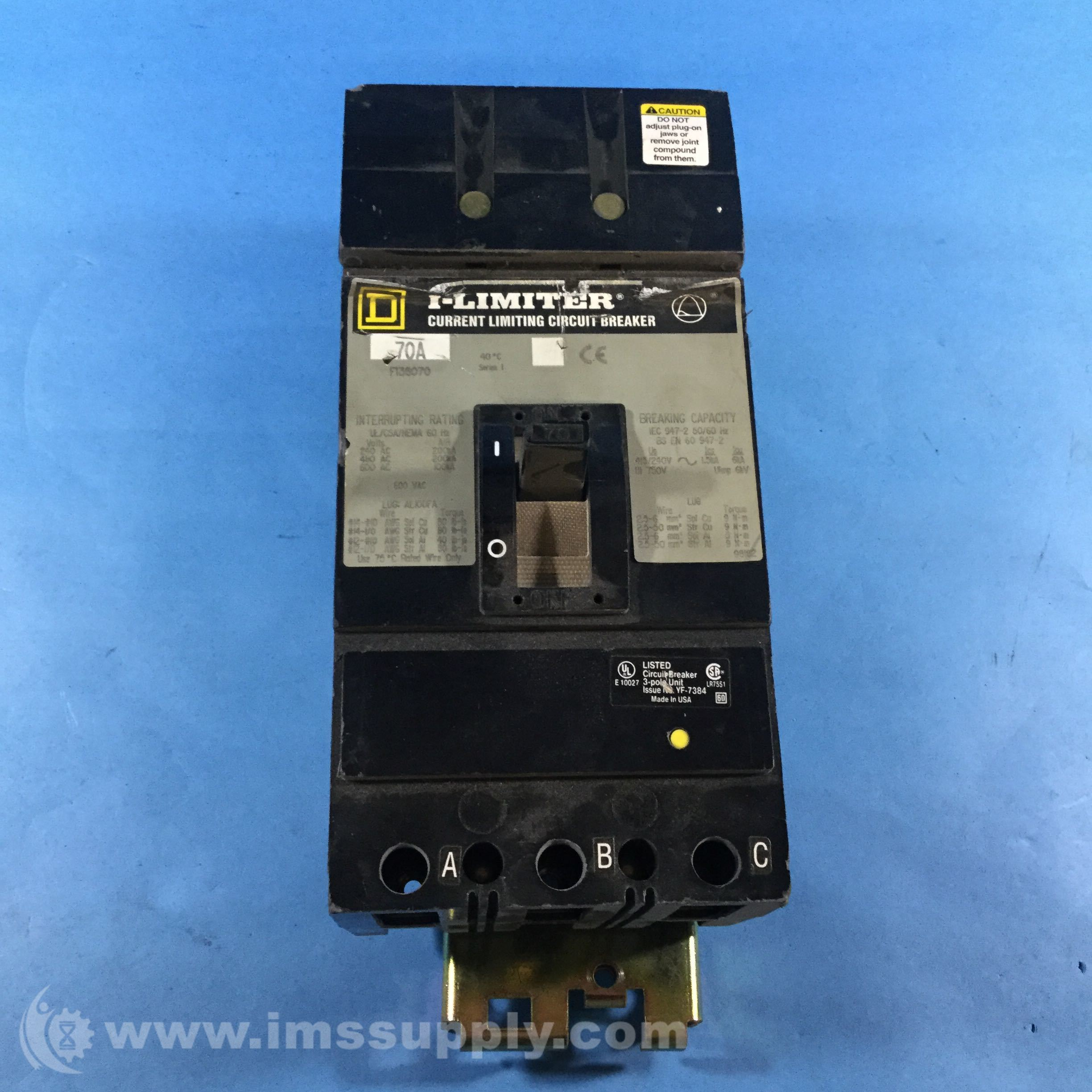 Square D Fi36070 I Limiter Current Limiting Circuit Breaker Ims Supply