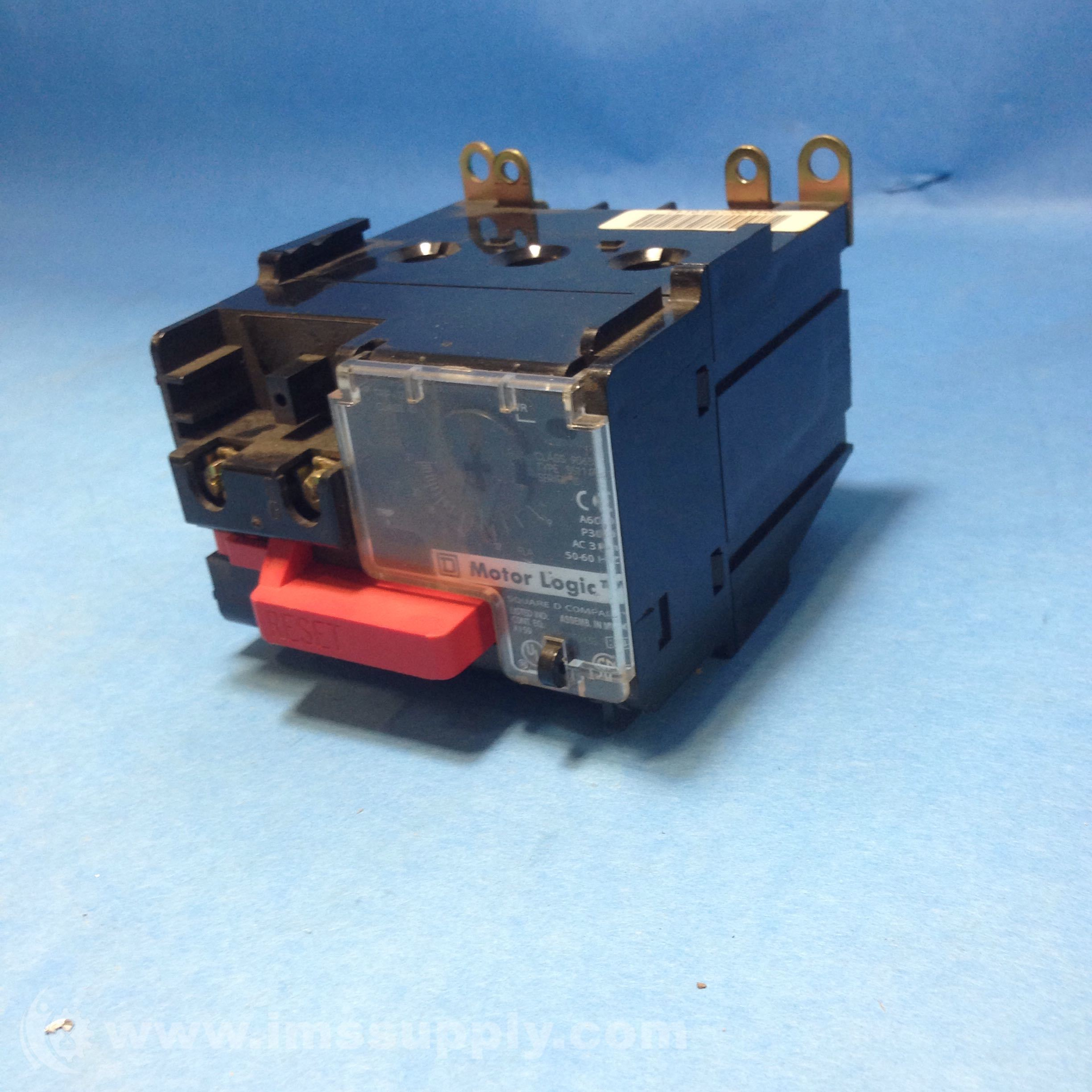 Square d 9065 ss110 solid state overload relay ims supply for Square d motor logic