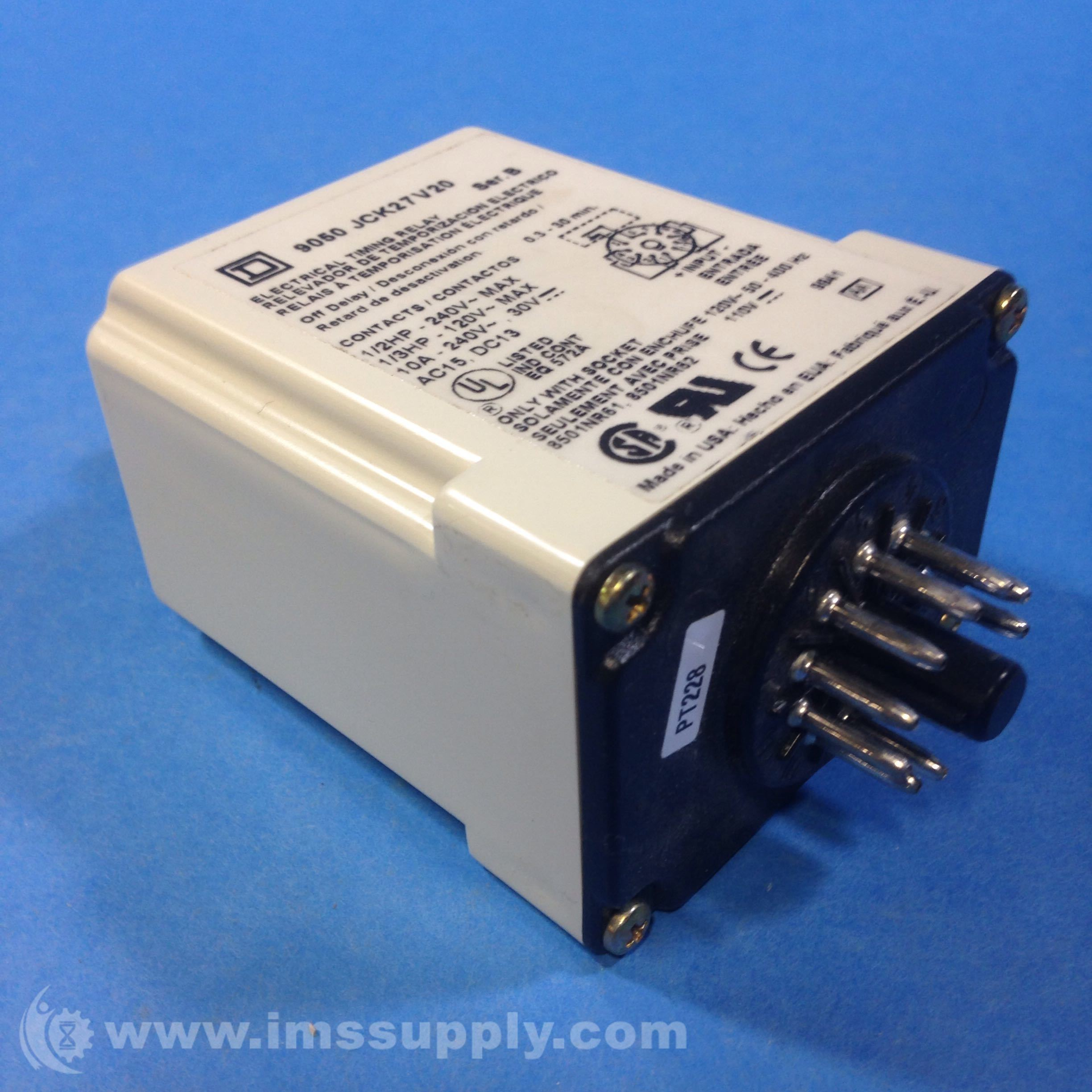 Square D 9050 JCK17V20 Timer Relay 240VAC 10AMP - IMS Supply on