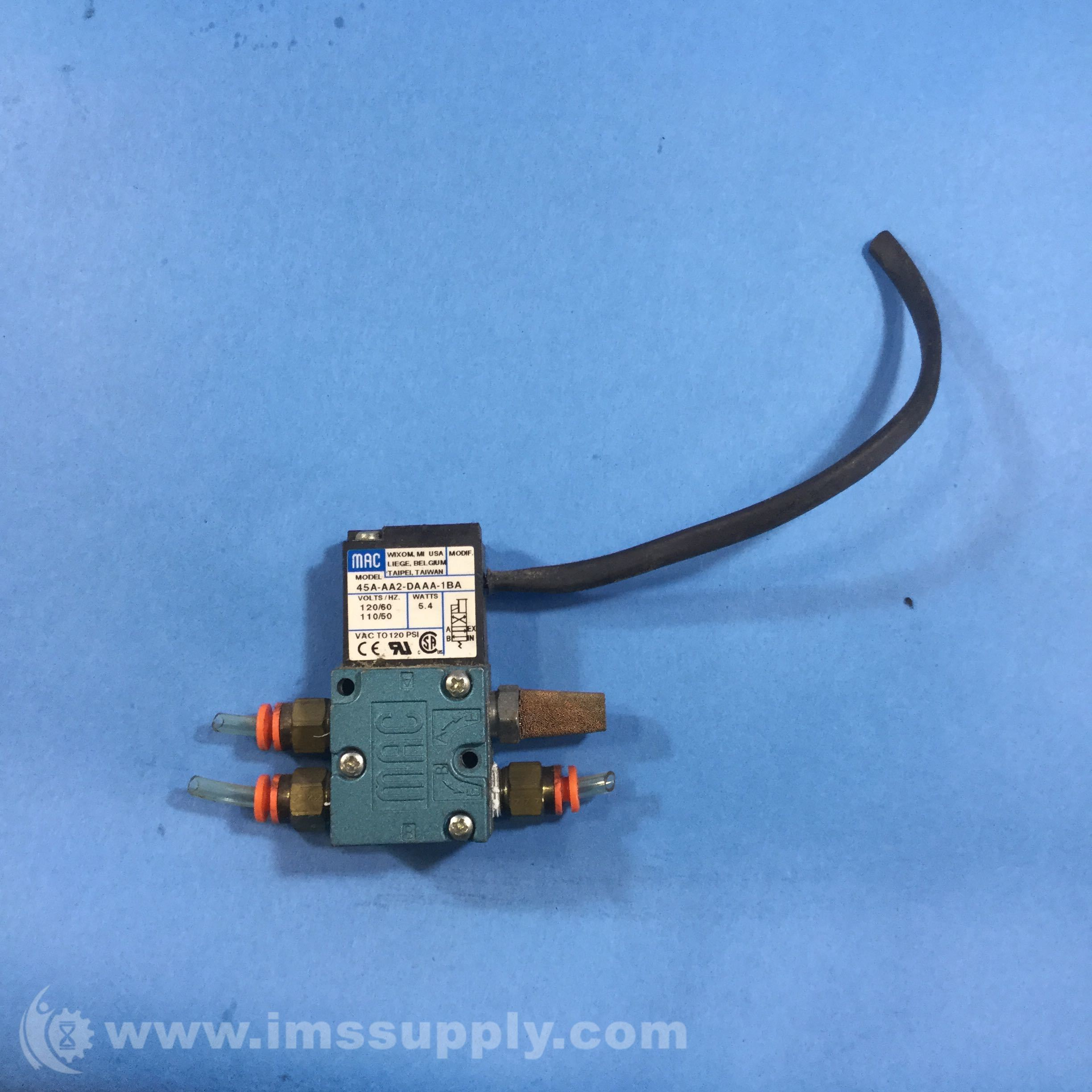 Mac Valves Inc 45a Aa2 Daaa 1ba Solenoid Valve Ims Supply Wiring
