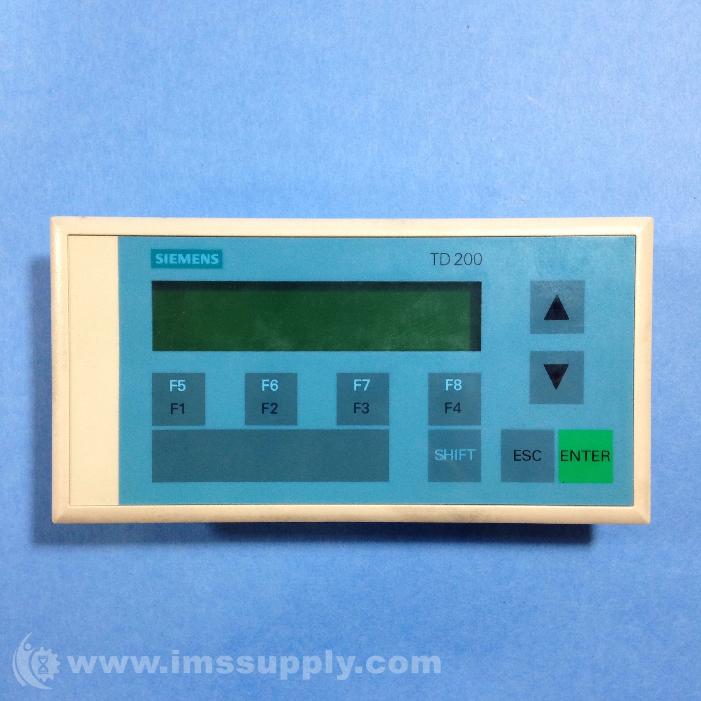 Siemens simatic s7 td200 operator interface ims supply more views sciox Image collections