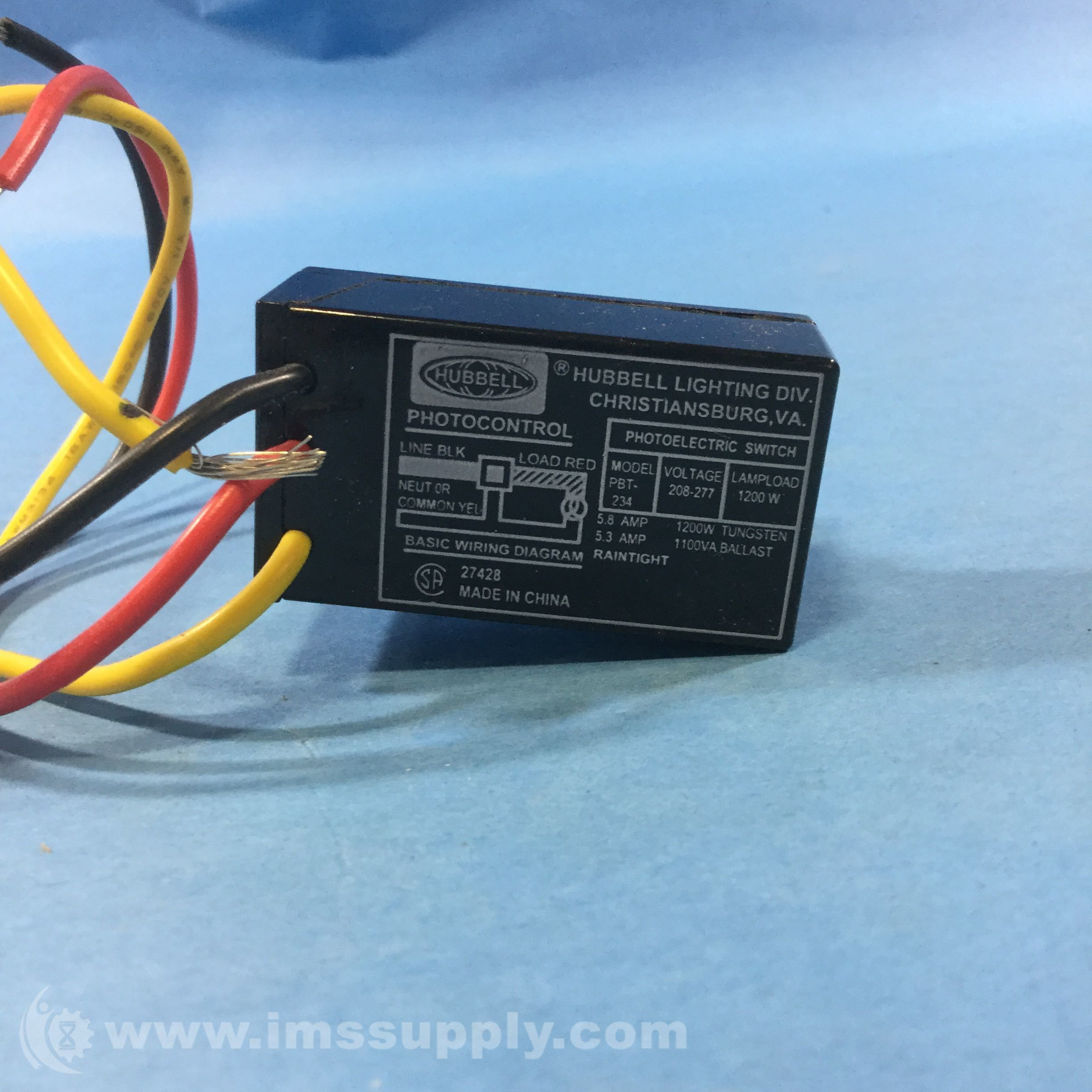 208 277 Photocell Wiring Diagram Modern Design Of Electronic Load Circuit Hubbel Pbt 234 Sensor Button 240 Volt Ims Supply Rh Imssupply Com Directions 3 Wire