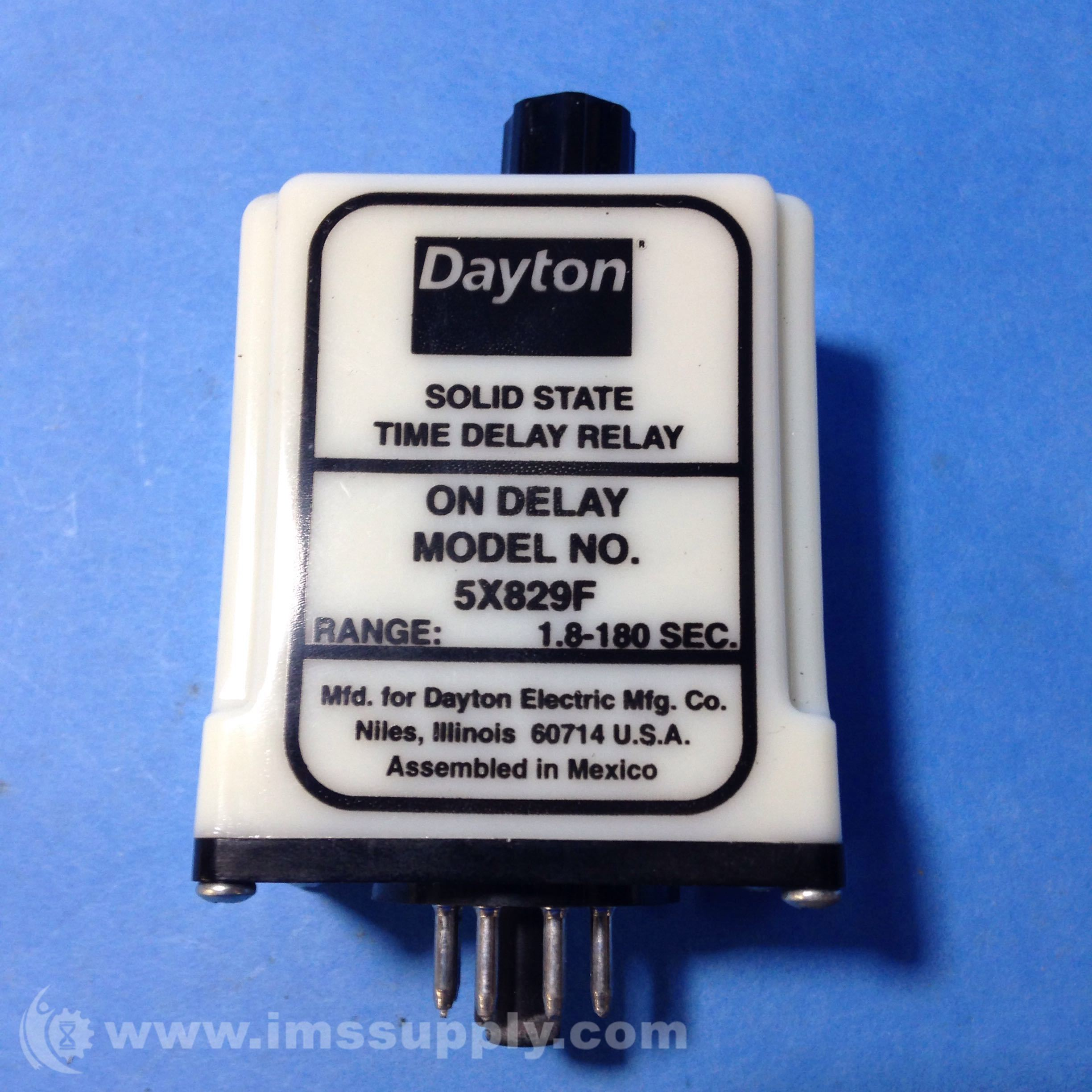 Dayton 5X829F Solid State Time Delay Relay - IMS Supply on