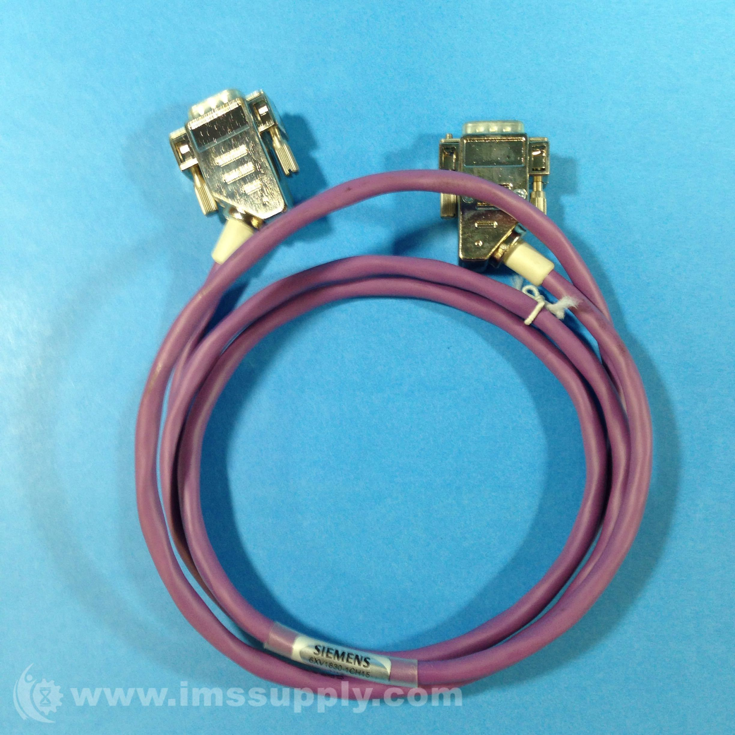 Siemens 6XV1830-1CH15 Cable Profibus 830-IT (2) 9 PIN 1.5 M - IMS Supply