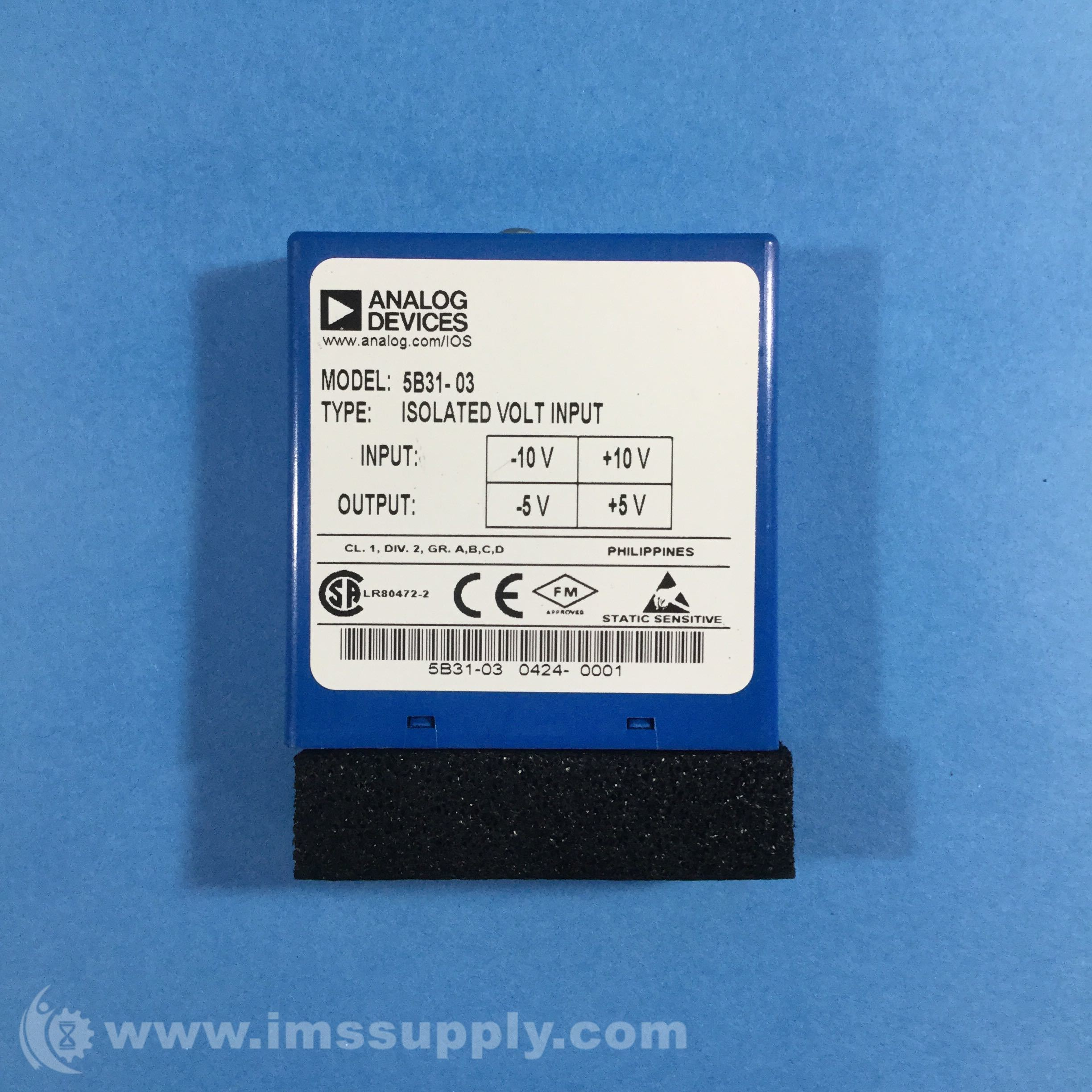 +//-5V IN and OUT 5B31-02 ISOLATED INPUT MODULE ANALOG DEVICES