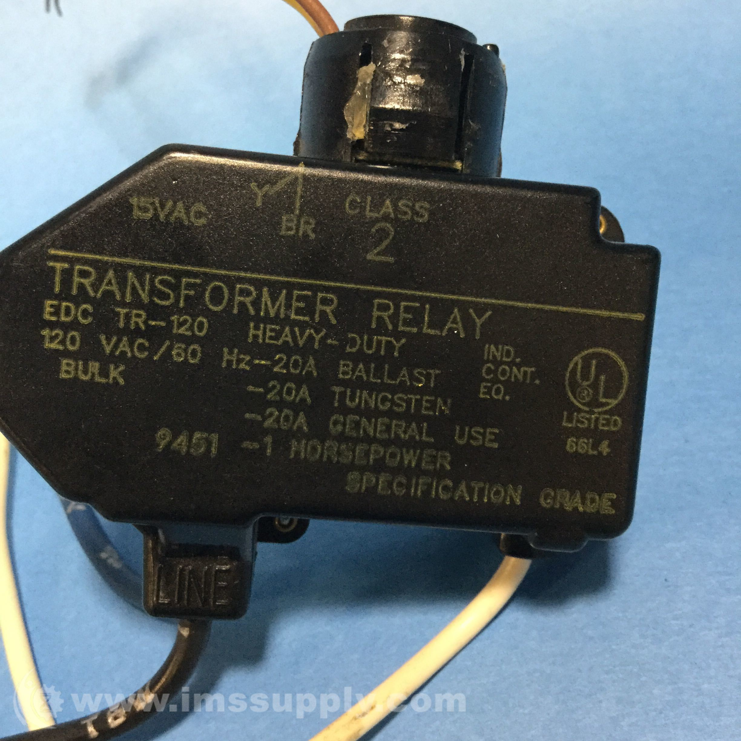 Enercon Industries Edc Tr 120 Transformer Relay Ims Supply Electrical Specification