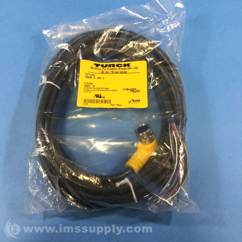Turck BKWM 19-995-5, Molded Cordsets - IMS Supply