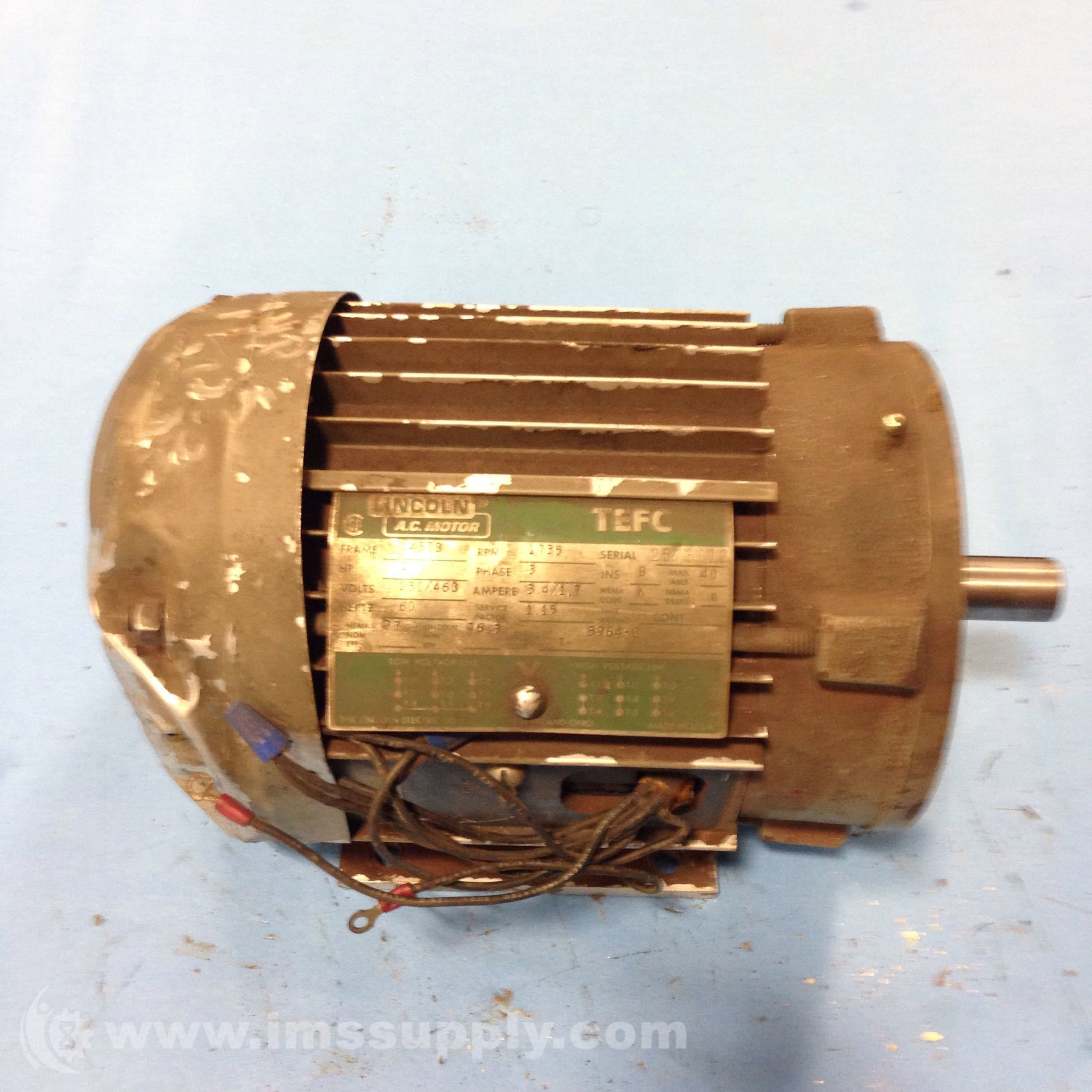 Lincoln motors 3964 c electric motor ims supply for Lincoln electric motors catalog