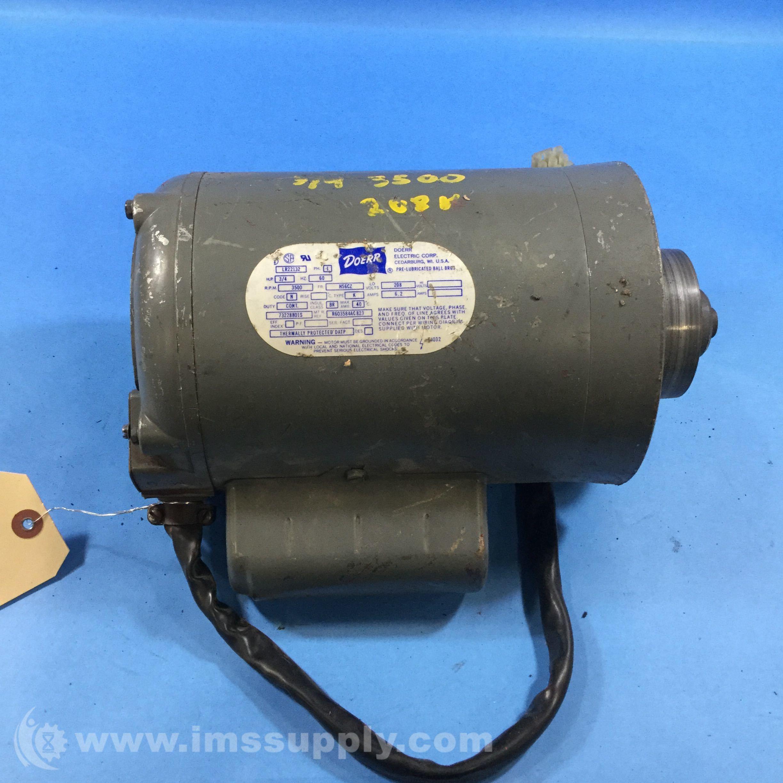 Doerr Electric Corp  Lr22132 1ph 3  4hp 3500rpm H56cz Frame