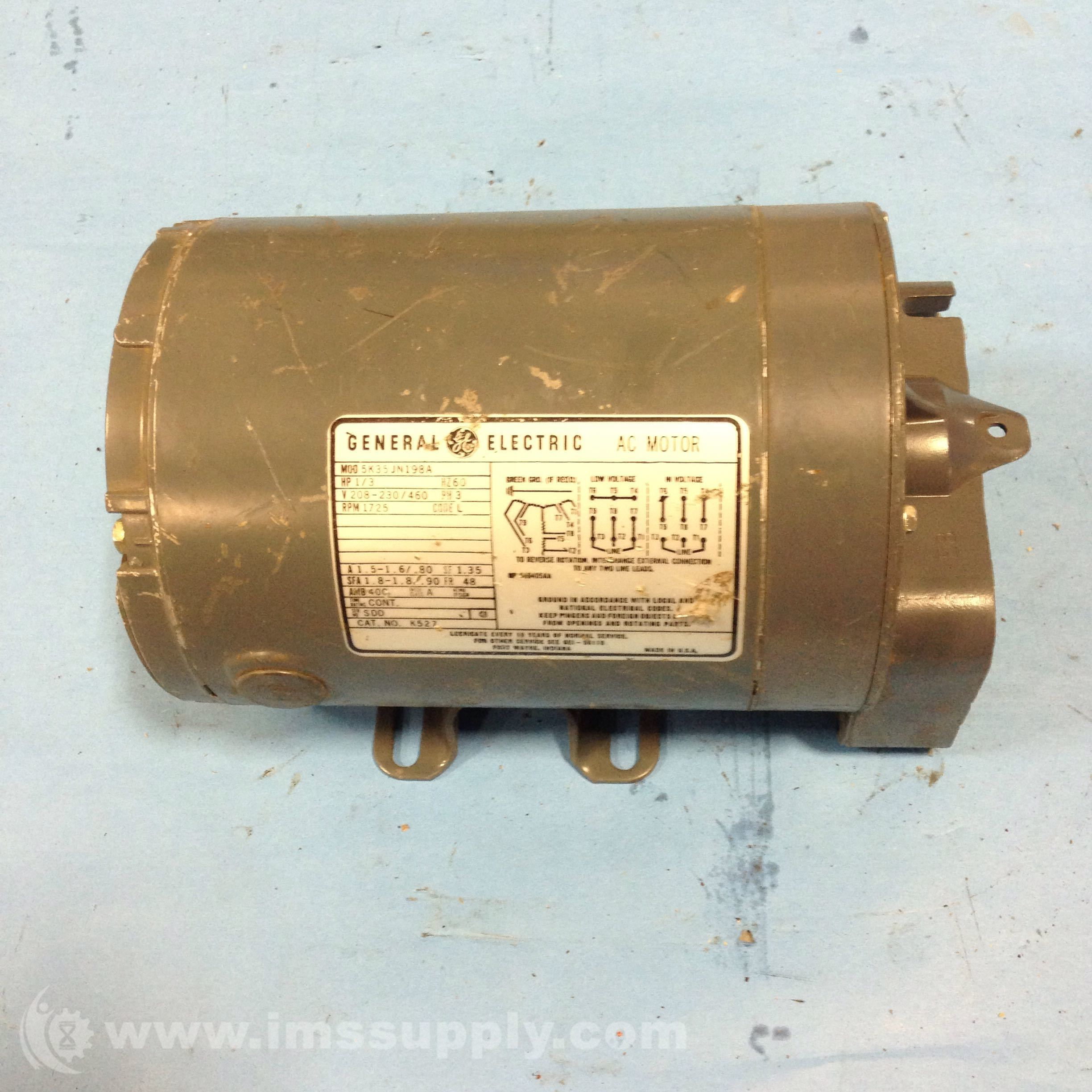 General electric 5k35jn198a motor ims supply for Ge electric motors catalog