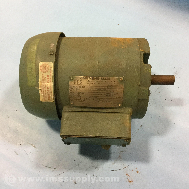 Siemens 51 308 575 induction motor 1hp 3ph 1750rpm ims for Siemens electric motors catalog