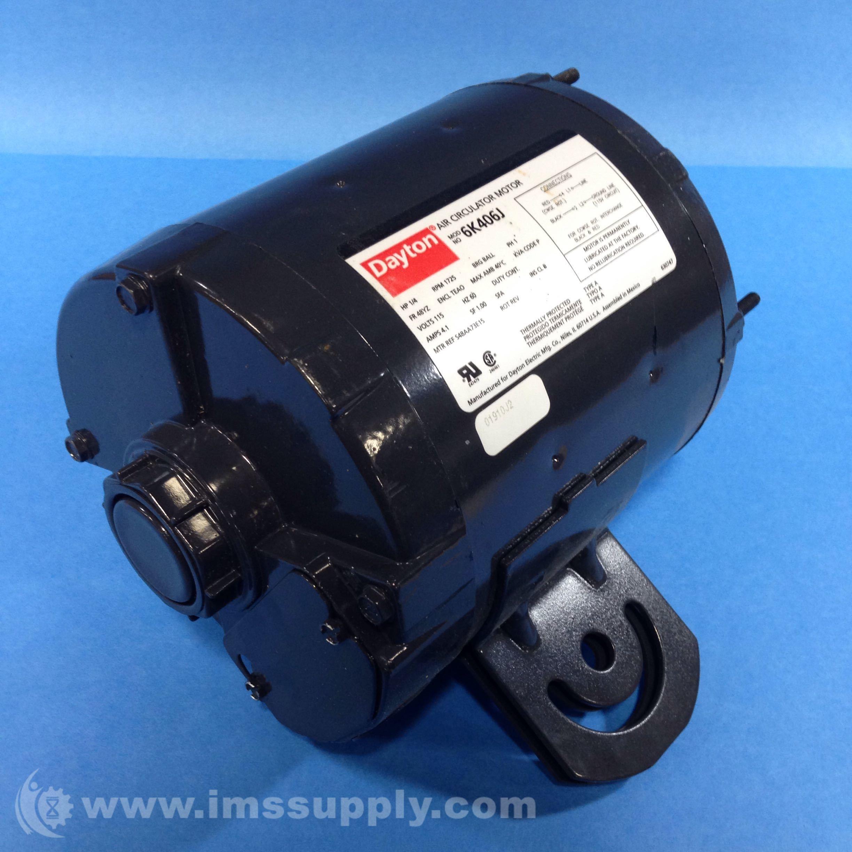 Dayton 6k406j air circulator motor 1 4 hp 1725 rpm ims for 1 4 hp 1725 rpm motor