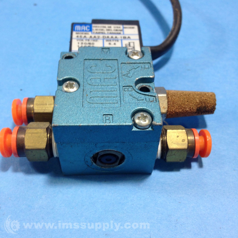 Mac Valves Inc 45a Aa2 Daaa 1ba Solenoid Valve Ims Supply Wiring