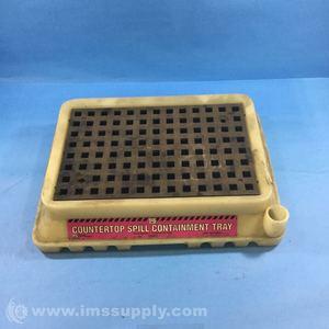 White//Black 1.5 Gallon Sump Capacity New Pig PAK371 Polyethylene Spill Containment Tray 16-5//8 Length x 12 Width x 3.88 Height