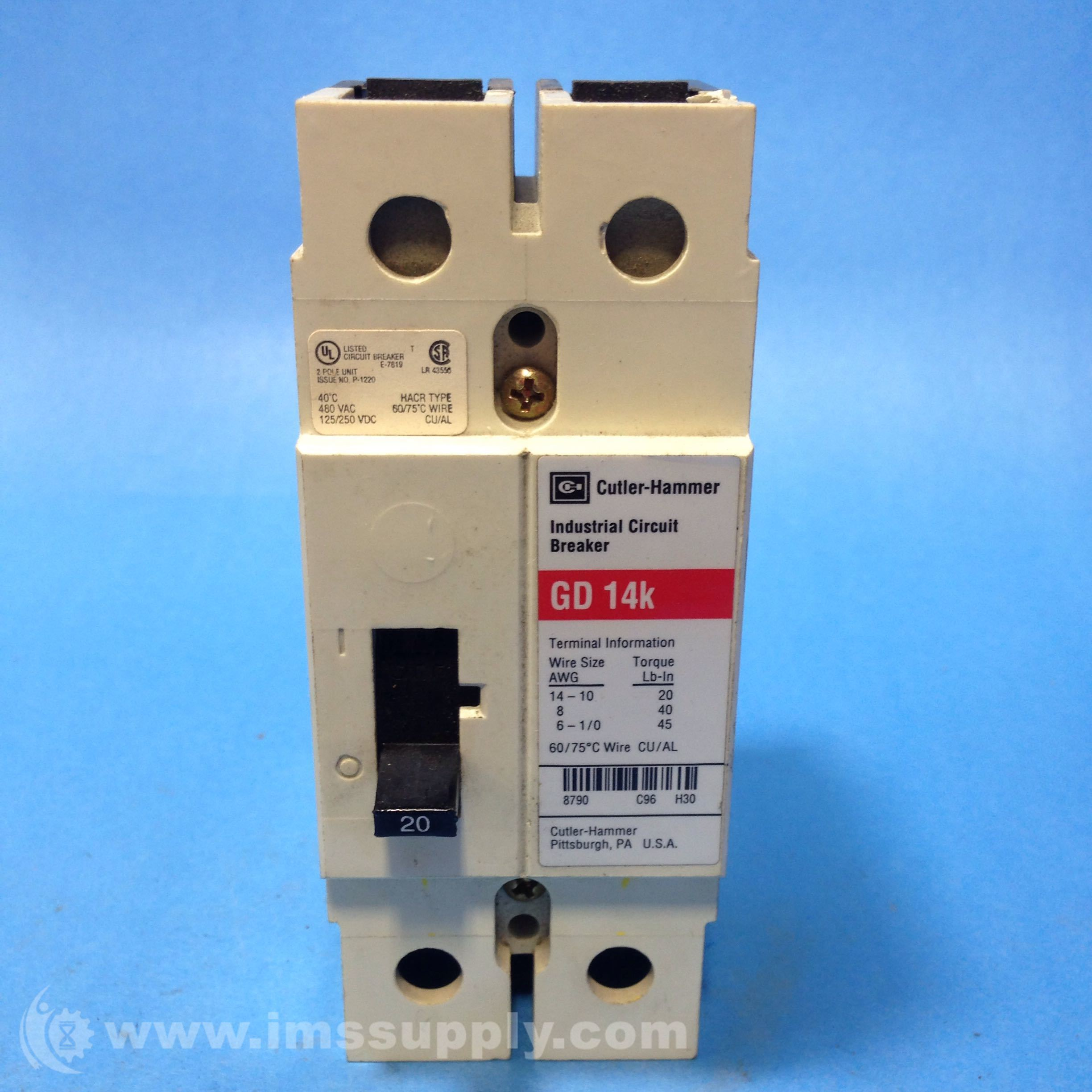 Cutler Hammer Gd 14k Industrial Circuit Breaker Ims Supply Fuse Box More Views