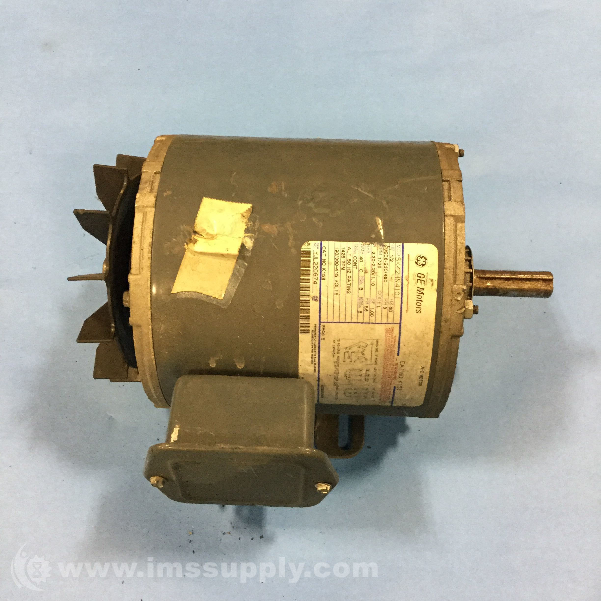 General electric k158 ac motor ims supply for Ge electric motors catalog