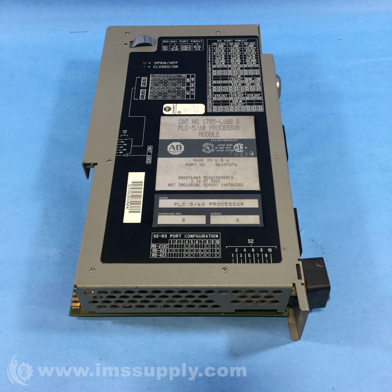 Allen bradley 1785 l60b processor module plc 5 60 64k for 60 1785