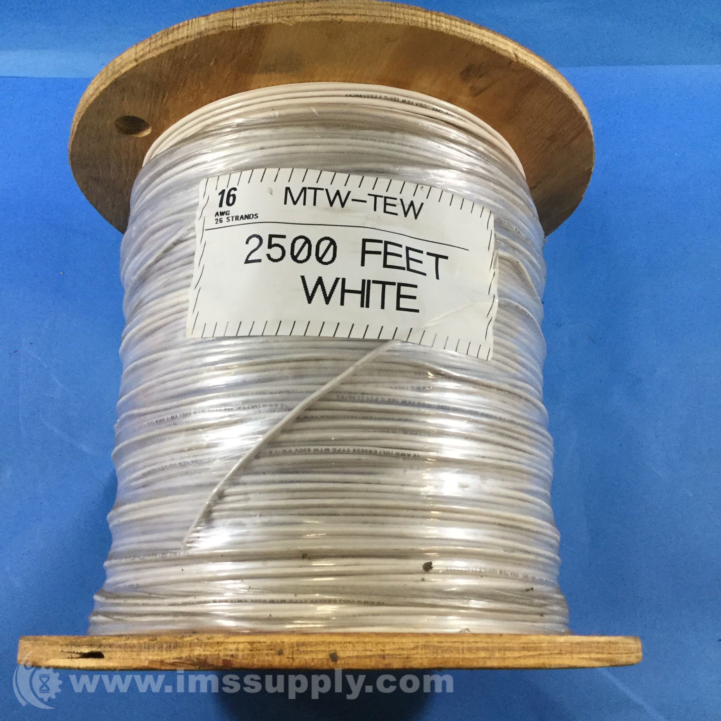 Southwire MTW-TEW 2500 FT White 16AWG 26 Strands Copper Wire - IMS ...