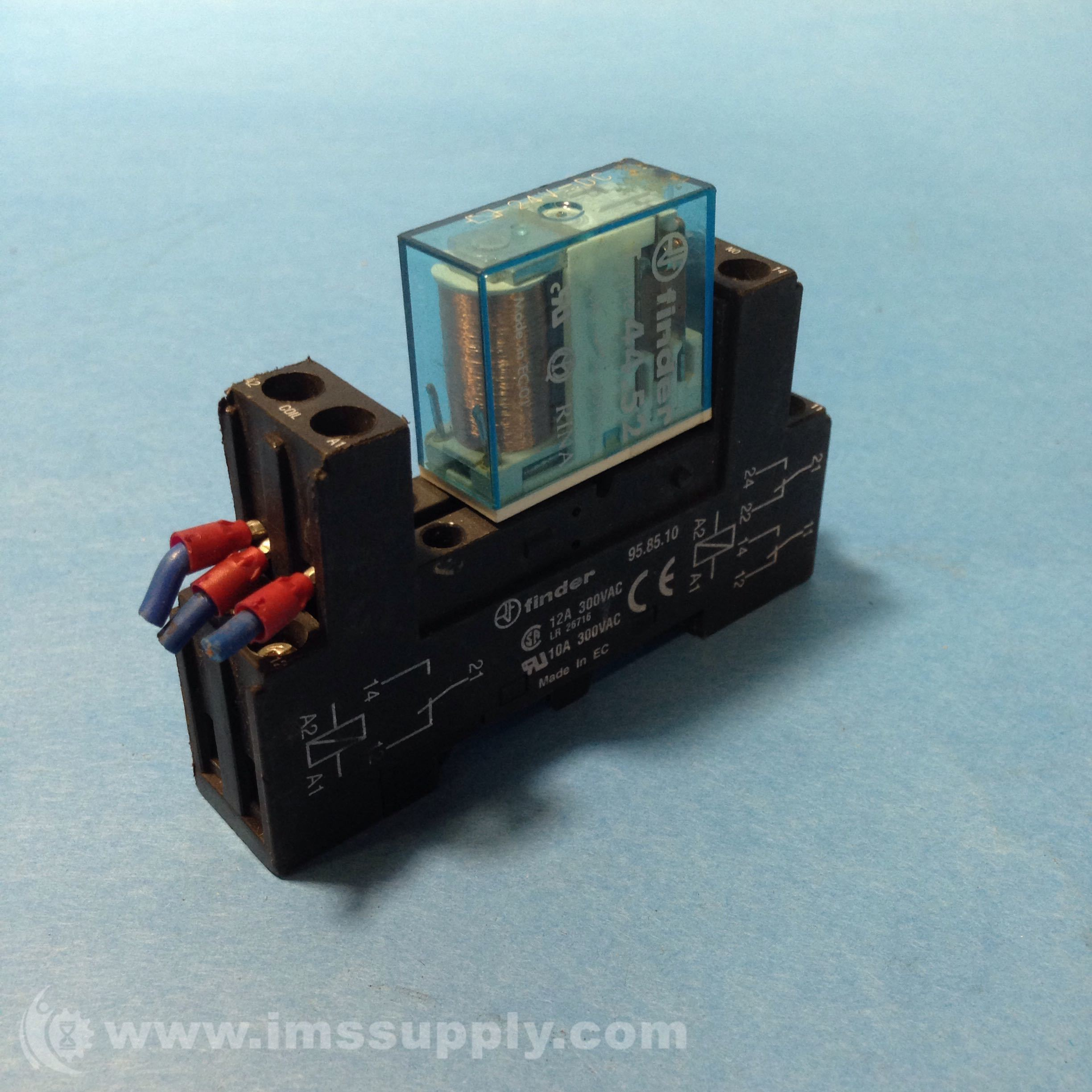 Finder 958510 Relay Socket Din Rail 40 41 44 10amp Ims Supply Solid State