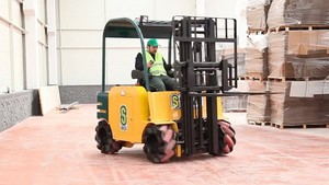 Mecanum Wheels Means Your Forklift Can Moonwalk