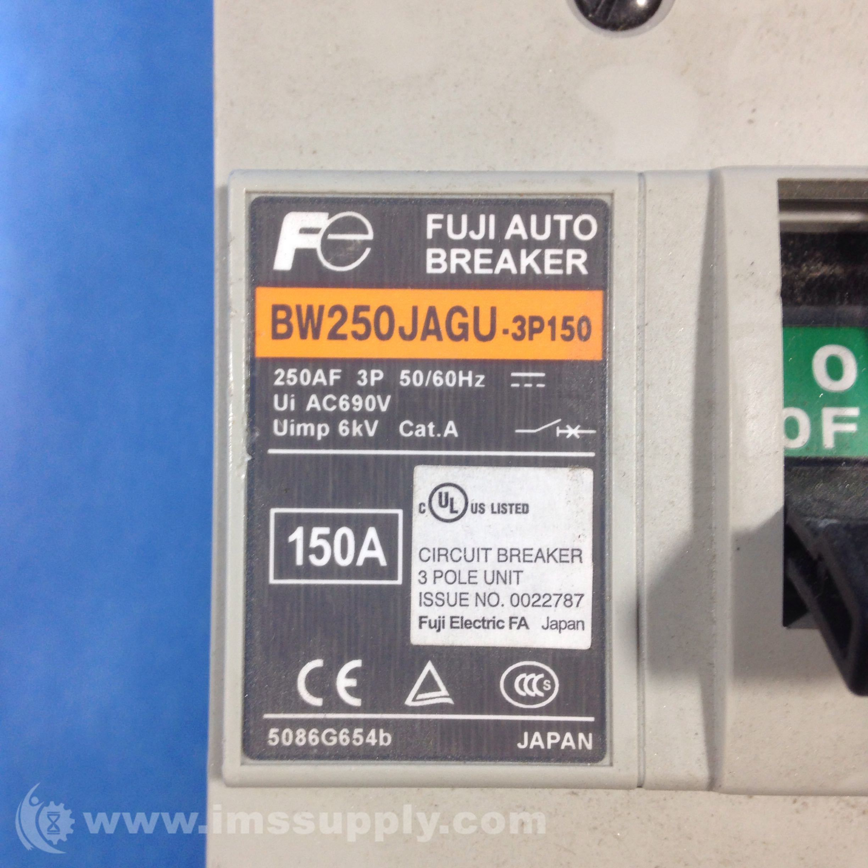 Fuji Electric BW250JAGU-3P150 Circuit Breaker 3 Pole 150A 690VAC ...