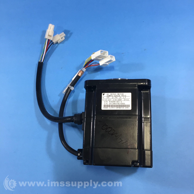 Yaskawa Electric SGMPH-02A2A-YR12 AC Servo Motor, 3000 RPM