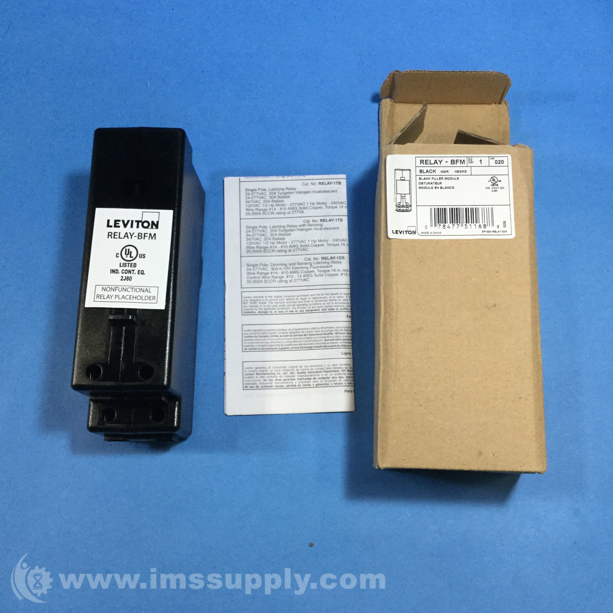 Leviton Relay-BFM Blank Filler Module - IMS Supply