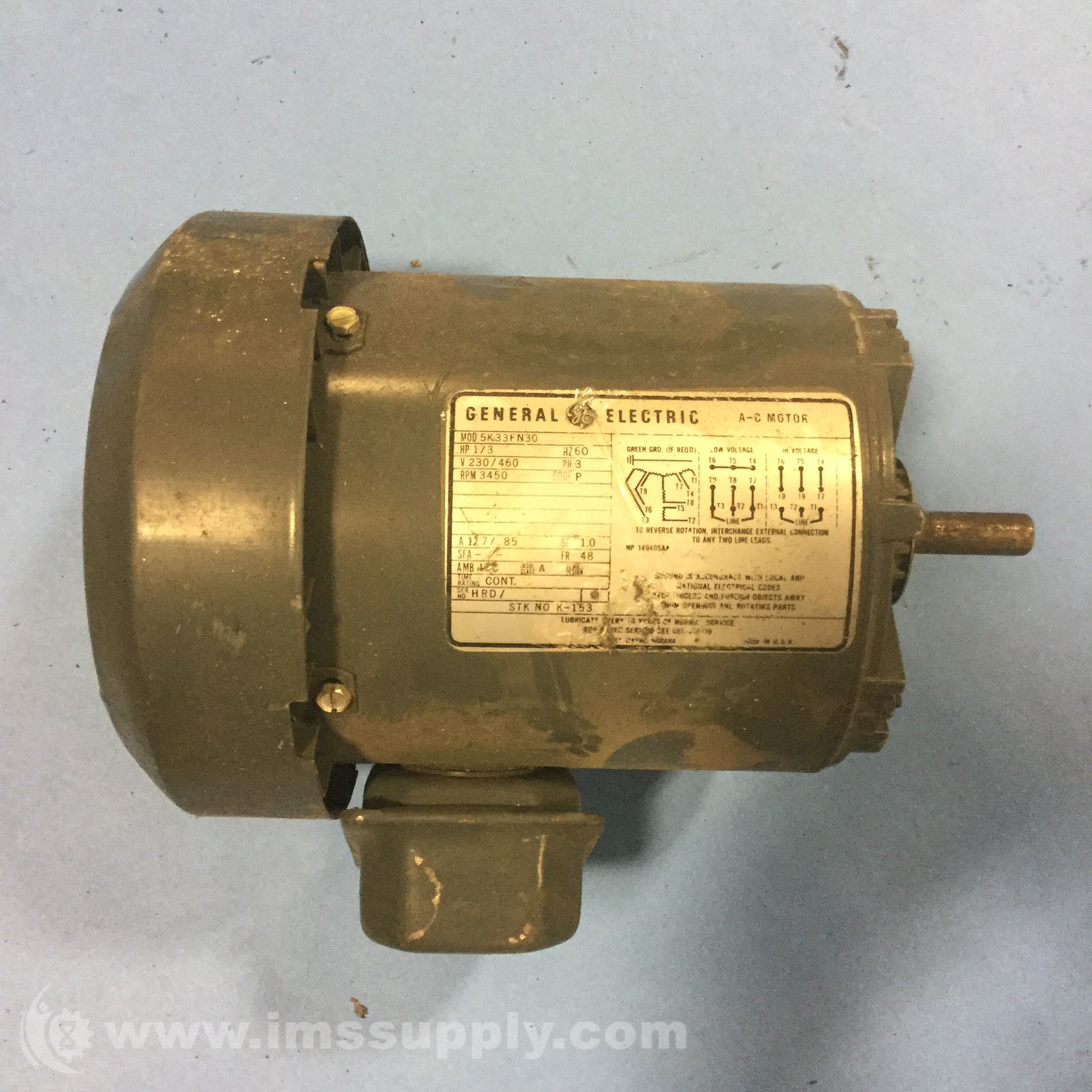 General electric 5k33fn30 motor ims supply for Ge electric motors catalog