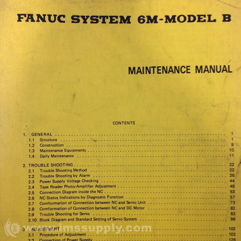 fanuc 6m model b maintenance manual ims supply rh imssupply com fanuc 6m maintenance manual pdf fanuc system 6m maintenance manual pdf