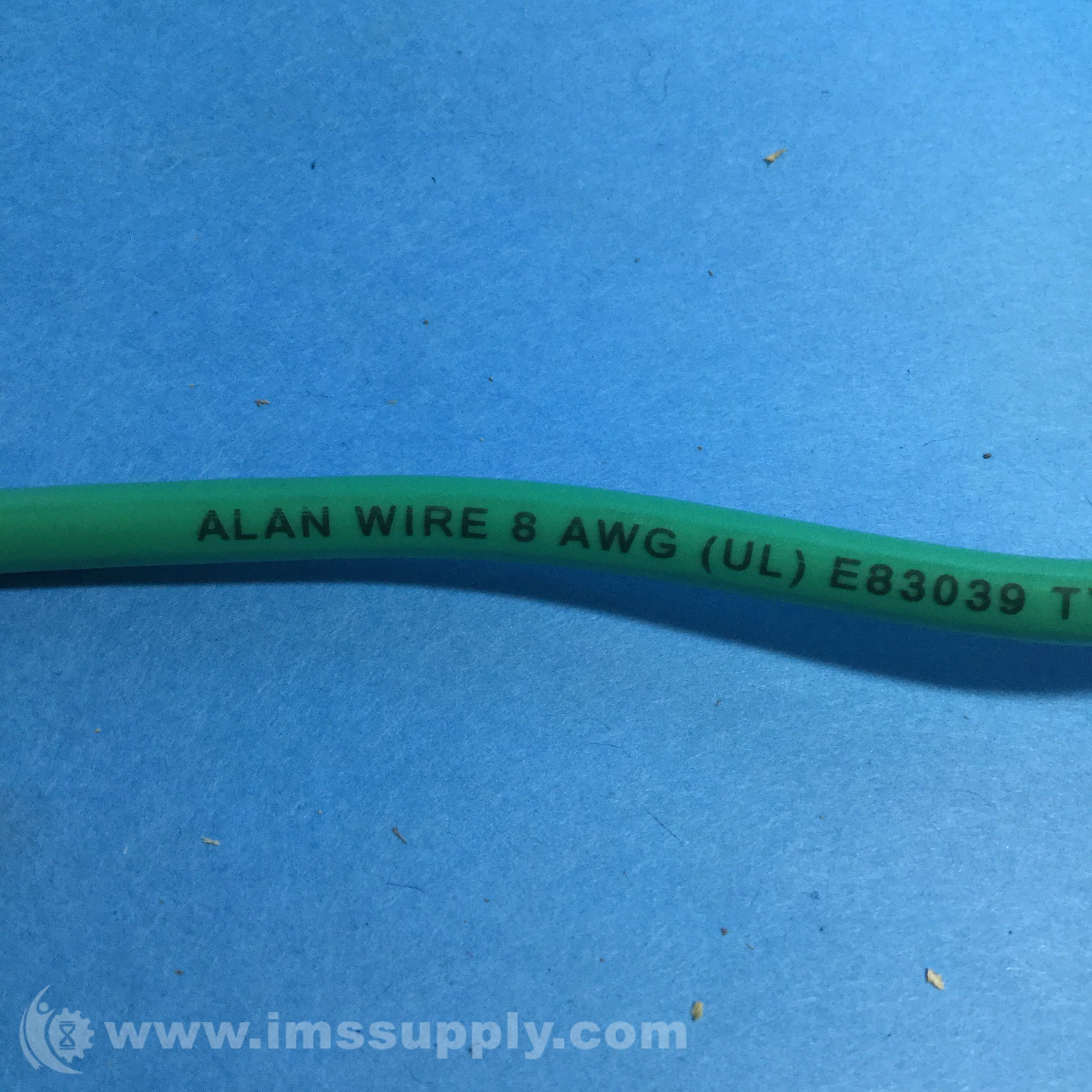 Alan Wire 8AWG THHN/THWN/MTW Green 600V Copper Machine Cable - IMS ...