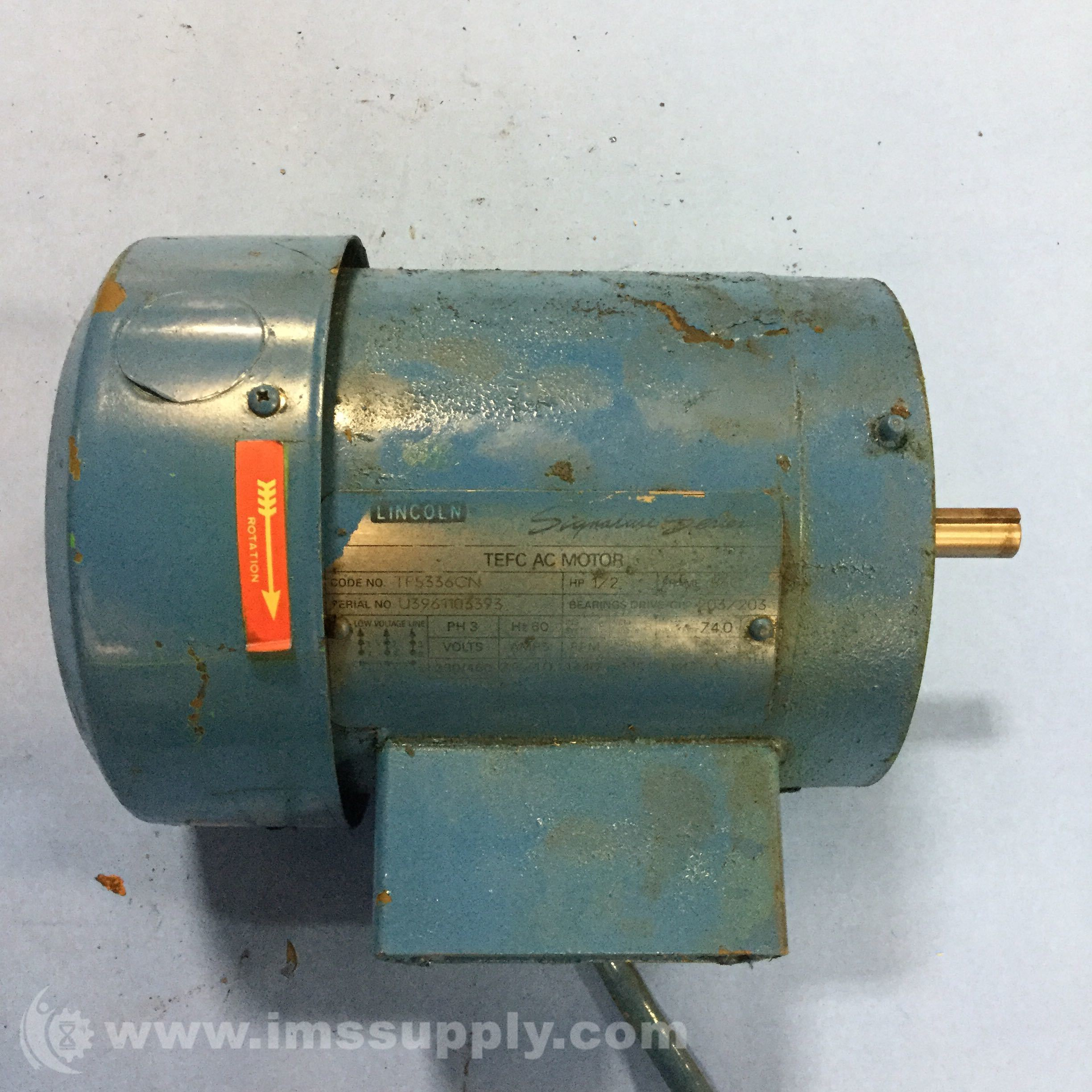 Lincoln electric tf5336cn ac motor ims supply for Lincoln electric motors catalog